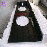 Bancada em granito preto Shanxi prefabricados para decoração de cozinha