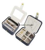 ミラーが付いている携帯用旅行宝石箱のオルガナイザーの包装ボックス