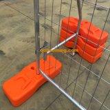 Recinzione provvisoria saldata dei piedi di plastica della rete metallica