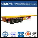 Cimc 40 ' Tri-Axle Flatbed Trailer con 12 Locks