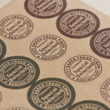 Wholesale personalizada profesional ronda Troqueladas papel impermeable adhesivo