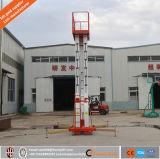 Hydraulische Mast Drie Verticale Telescopische de Lift van de Mens/de Lift van de Mens van het Aluminium