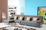Base di sofà moderna di svago del tessuto dell'angolo del salone