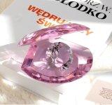 Пурпуровая кристаллический раковина с диамантом для подарка кораблей (Ks250409)