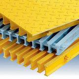 Con cubierta rejilla GRP GRP / rallar con arenisca escalera cubierta de rejilla de plástico reforzado con fibra