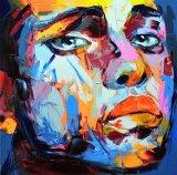 Françoise Nielly Portrait de l'huile de la palette de peinture Face d'expression001