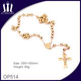 halsband van de Parels van 8mm de Stevige Gouden Godsdienstige met Jesus Body