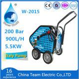 Arandela de alta presión eléctrica con la rueda