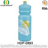 600ml выдвиженческое BPA освобождают пластичную бутылку проточной воды, бутылку воды спорта PE пластичную (HDP-0893)