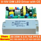 20-35W 0-10V Dimmable hoher PF LED Fahrer mit Cer QS1203