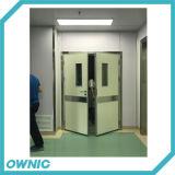 Puerta de acero del sitio de puerta interior de la puerta para el hospital (doble abierto)