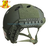 Tipo rápido capacete do Pj do CS de Airsoft Paintball do ABS na cor do Od
