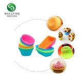 別の形のシリコーンのベーキングMolds&Customのシリコーンのカップケーキ型