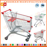 Qualitäts-Lichtbogen-Form-Metallsupermarkt-Einkaufswagen-Laufkatze (ZHt283)