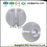 Строительный материал подсолнечника штампованный алюминий теплоотвод с вентилятором для светодиодного освещения рамы