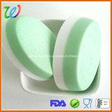 Moulage ovale de savon de silicones de métier fait maison en gros d'usine
