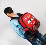 L'enfant en bas âge mignon de sac à dos de véhicule de dessin animé de sacs d'école d'enfants badine des sacs à dos de sac de livre avec la courroie d'épaule fluorescente