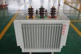 Tipo do petróleo 3 transformador montado Pólo da alta tensão 25kVA da fase