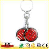 Metalllaufkatze-Schlüsselring-Münze