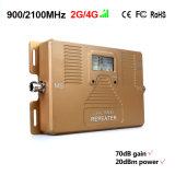 Répéteur mobile à deux bandes de signal de téléphone cellulaire de servocommande du signal 850/2100MHz pour 2g 3G