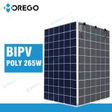 Morego transmittance légère en verre du panneau solaire 265W 10% de double de pente une poly