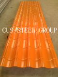 Perfil do revestimento da construção/folha Prepainted da telhadura do metal do Trapezoid