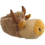 온난한 연약한 모피 암소 동물성 장난감 단화