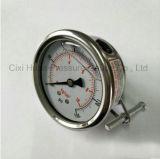 サポートCorrsion抵抗力がある液体のFillableの圧力計との60mm