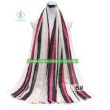 Вертикальная полоска напечатано вискоза шарфом моды леди шаль с Tassel