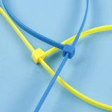 Selbstsichernder weißer Nylonkabelbinder (Nylon PA66)