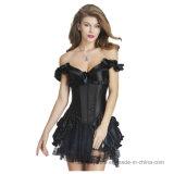 Платье партии Bodysuit втулки Bustiers самого последнего сексуального шнурка женщины половинное