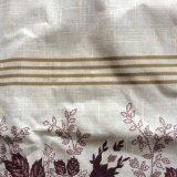 Impresa Polyster tejida tejido sarga tejido textil hogar