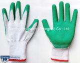 ラインを浸す乳液の労働の手袋