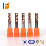 HRC 55 Three Floutes Solid Carbide Carbide End Millet Cutter with Coating