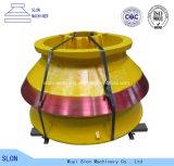 La altos trituradora del cono de Metso HP100 del acero de manganeso parte la capa y cóncavo