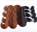 Colore di tessitura brasiliano di Ombre di estensione dei capelli dell'onda del corpo dei capelli umani di Remy