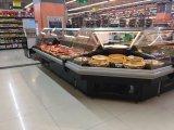 Supermercado Curva Personalizado delicatessen do canto do chiller do visor