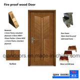 黒いクルミの出入口のBSの証明書が付いている内部の木の火のレートのドア