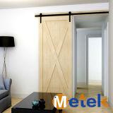 Acero inoxidable de la mayor nivel que resbala la puerta de madera