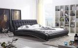 Base di cuoio moderna della mobilia cinese della camera da letto doppia