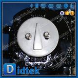 Valvola a farfalla dell'acciaio inossidabile della prova di Didtek 100% con Chainwheels