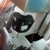 Navette de machine de tampographie quatre couleurs avec gabarit de rotatif