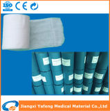 Roulis 100% de coton médical, blanc, 40s, emballage absorbant de gaze de papier bleu (regard fixe de rolo De)