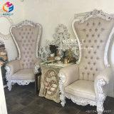 높은 뒤 임금을 Wedding Throne Chair Hly-Sf16 호화스러운 화이트 골드