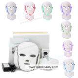 광양자 Face&Neck LED Facial 가면을%s 7개의 색깔을%s 가진 가벼운 치료 LED 가면 3D 가면