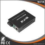 1X Fx - do External duplo portuário do SC 2km da fibra 1310nm de 1X UTP 10/100M conversor autônomo do Pwr Meida