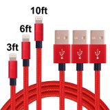 1m 2m 3m 나일론 셀룰라 전화를 위한 땋는 USB 케이블