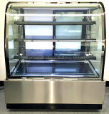 Vitrina pastelera vertical refrigerador con pastel de iluminación LED para mostrar