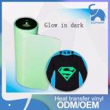 Brilla en el resplandor de acrílico oscuro en la oscuridad la transferencia de calor Pet PVC
