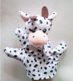 주문을 받아서 만들어진 디자인 귀여운 동물성 견면 벨벳 장난감 괴뢰 장난감